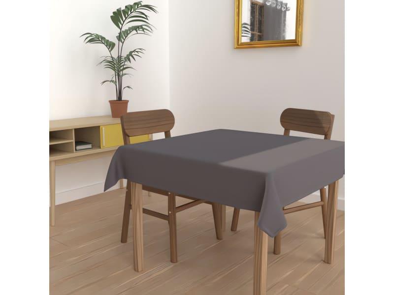 Nappe anti-tâches carrée 140x140 cm alix anthracite