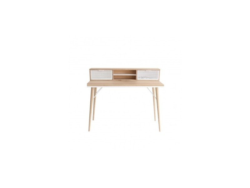 Bureau style scandinave bois clair holly vente de la chaise
