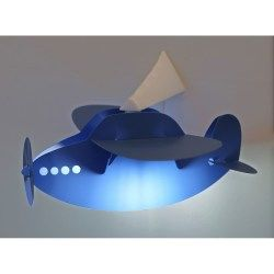 Applique murale lampe enfant avion