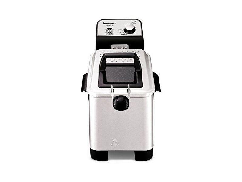 Moulinex easy pro 3 l friteuse classique 2 300 w 2 niveaux de cuisson thermostat réglable 2 l 600 g argenté Easy Pro 3 L
