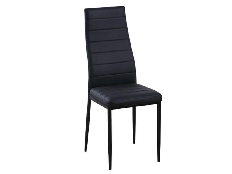 Lot de 6 chaises coloris noir flash conforama for Lot de 6 chaises conforama