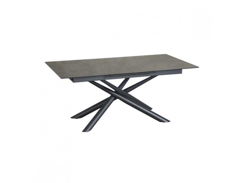 Table de repas extensible 160 à 200 cm plateau céramique - splendide