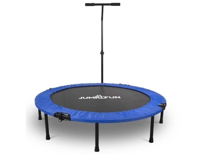 Mini trampoline fitness jump4fun pliable t-bar - ø122cm, bleu