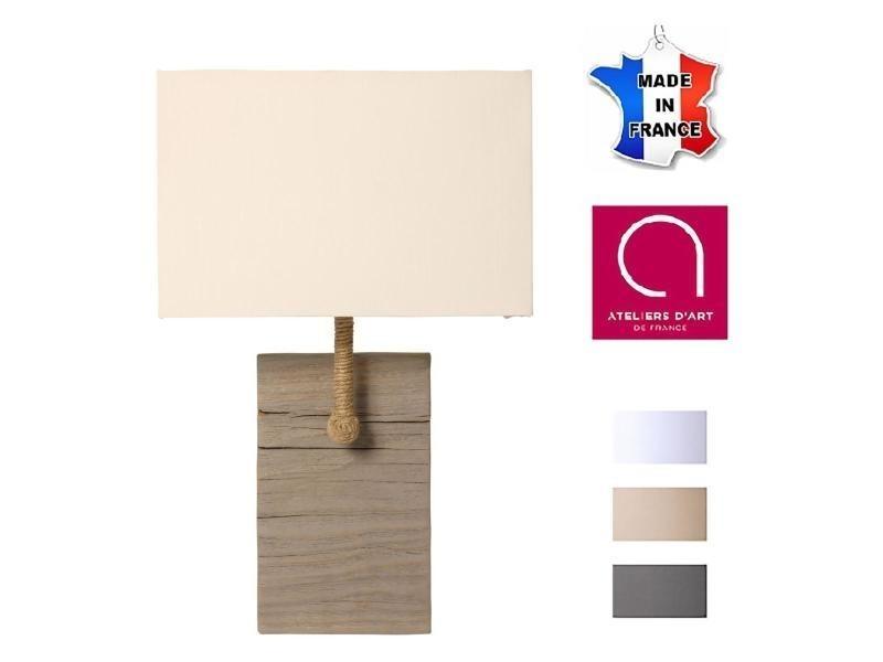 Lampe Vieilli Fabriquée Bois Et À Murale Applique En La Cordage hsQtdr