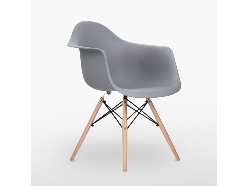 Chaise style scandinave grise ajie