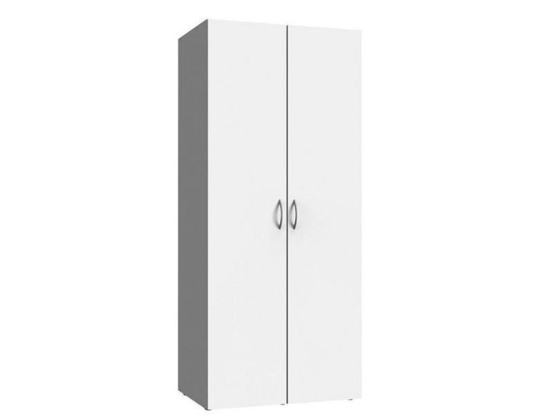 Armoire de rangement lund 2 portes blanc mat largeur 80 x 54 cm profondeur 20100890774