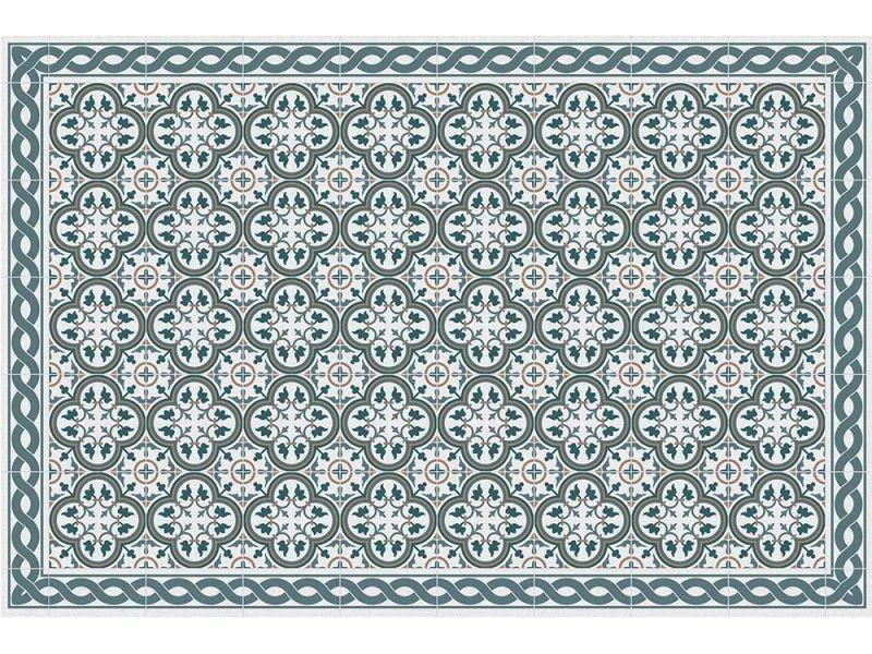 Contento - tapis intérieur extérieur en vinyle carreaux portuguais