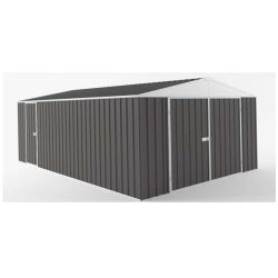 Easyshed  - garage grande dimension interieur 18m2 gris ardoise 3,00x6,00x2,28m - egar-6030-sg-198