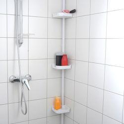 Barre de rangement extensible pour douche 230cm à 245cm