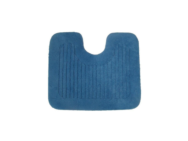 Jean Alan Contour Wc Pacific Coton 60x50cm Bleu Vente De Tapis