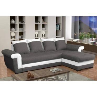 canap d 39 angle gigogne convertible londonderry anthracite et blanc 20100867199 vente de canap. Black Bedroom Furniture Sets. Home Design Ideas