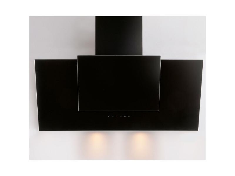 Hotte décorative 621m³/h silver 90cm, h 21090 009