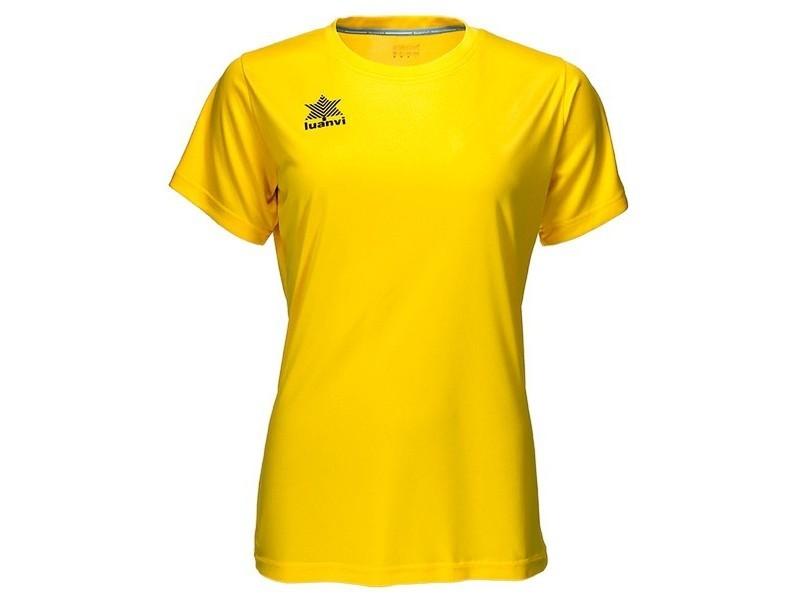 T-shirt de sport stylé taille s t-shirt à manches courtes femme luanvi pol jaune