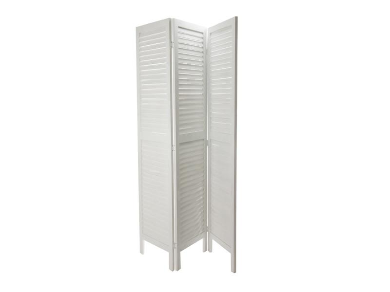 paravent bois blanc 120x170cm vente de atmosphera conforama. Black Bedroom Furniture Sets. Home Design Ideas