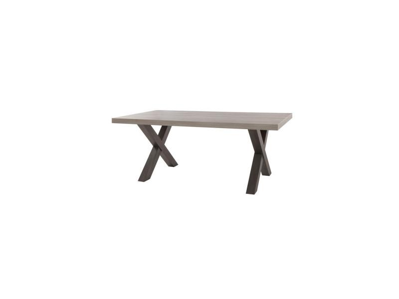 Table de repas 160 cm - tolosa - l 160 x l 102 x h 75 - neuf