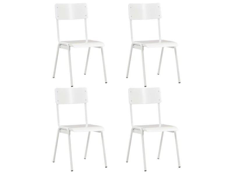 Icaverne chaises de cuisine edition 4 pcs chaises à dîner