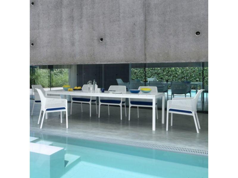 Table de jardin extensible et design rio 100x210/280 par nardi ...