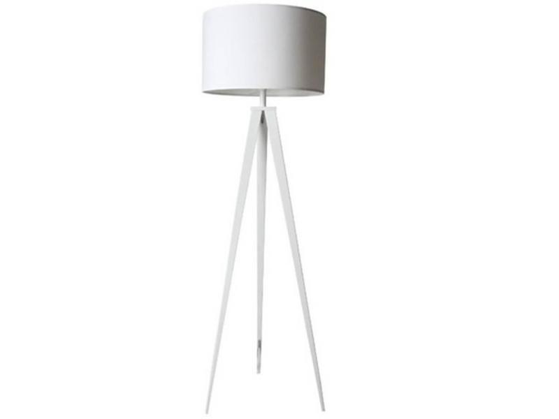 Zuiver lampadaire tripod blanc 20100829128 vente de for Miroir tripod