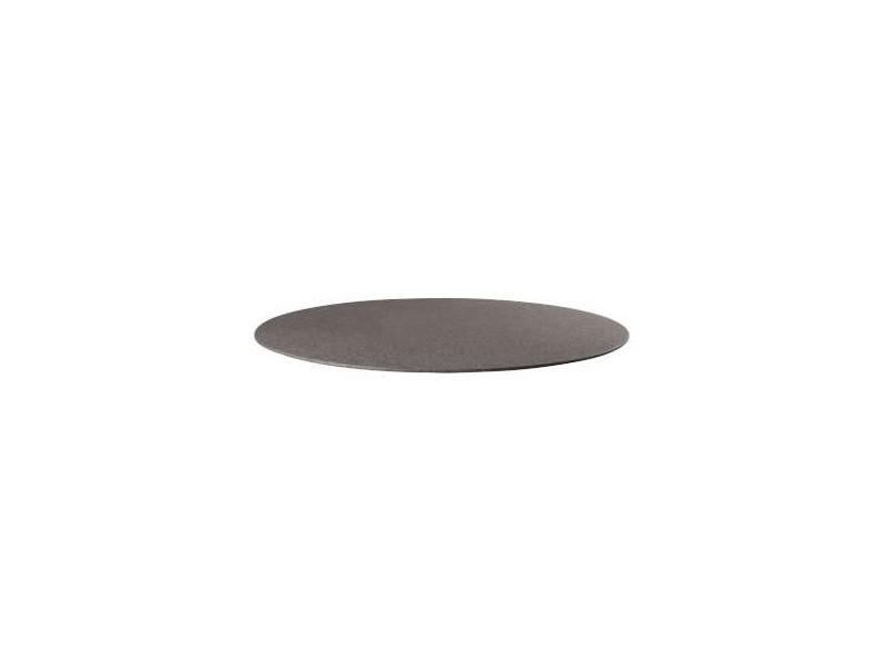 Volcani plateau de table rond / verre stone