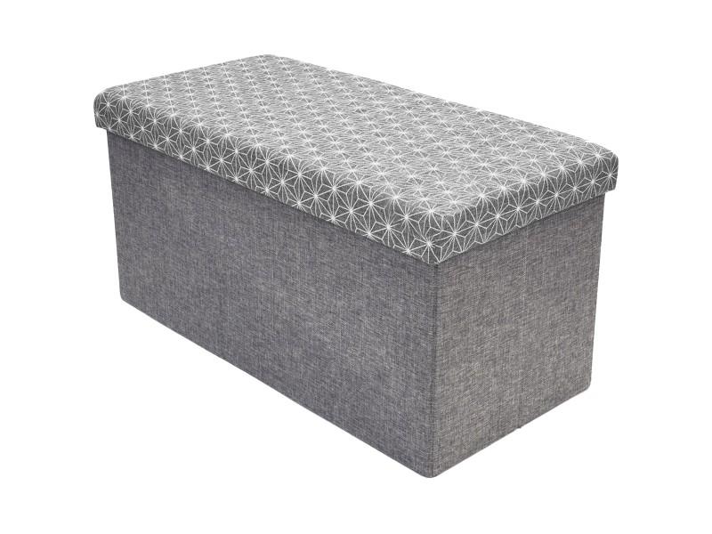 pouf coffre de rangement banc de lit design scandinave gris 38 x 38 x 76cm vente de promobo. Black Bedroom Furniture Sets. Home Design Ideas