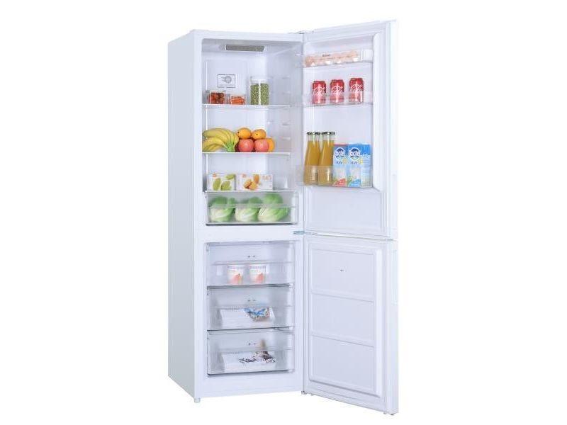 Réfrigérateur combiné 320l froid no frost brandt 60cm a+, bfc8610nw