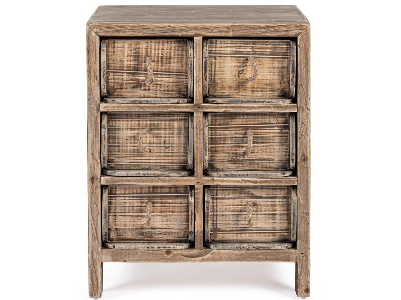 Meuble de rangement / chiffonnier en bois de sapin - l.41 x p.34 x h.45 cm - pegane-