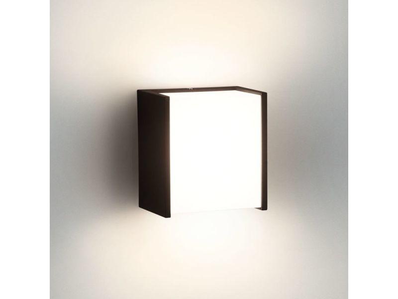 Philips applique extérieur cube macaw ip led h cm noir