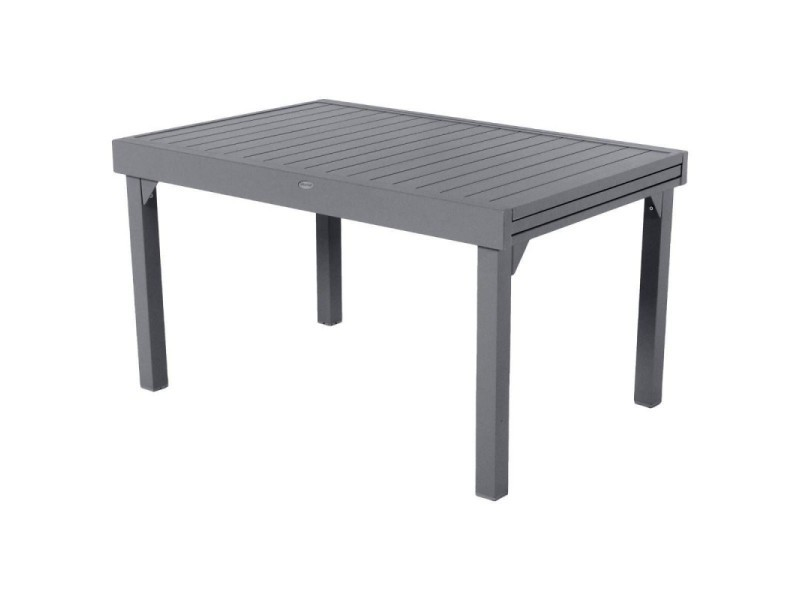 Table extensible composite piazza 6/10 places anthracite/gris ...