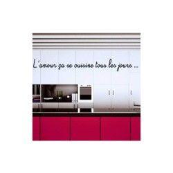 Sticker citation amour et cuisine