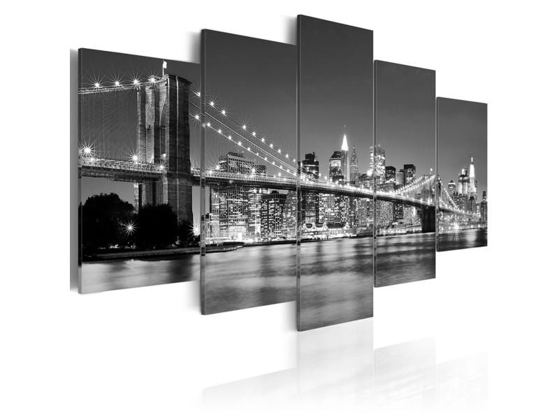 Tableau Reve De New York 100 X 50 Cm Pegane Vente De Toile Et Image Encadree Conforama