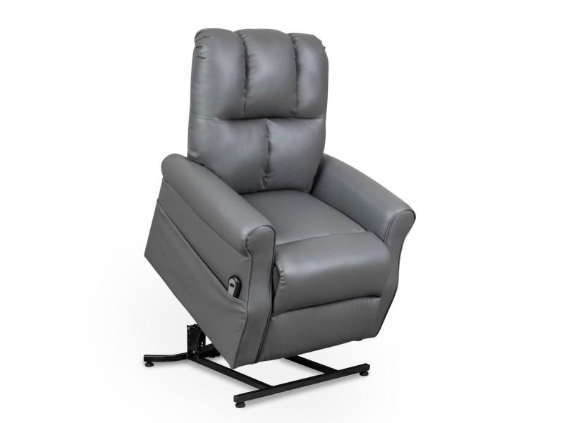 Fauteuil releveur relax gris à commande électrique goran 111902-GRI