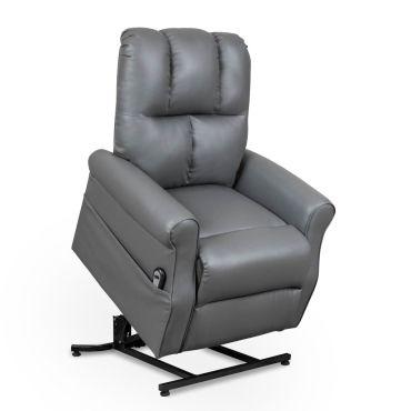fauteuil releveur relax gris commande lectrique goran conforama. Black Bedroom Furniture Sets. Home Design Ideas