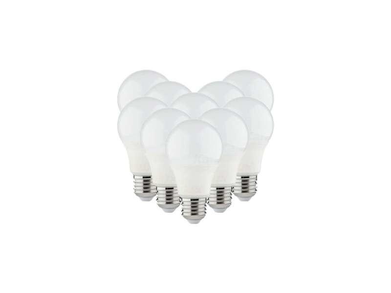 Lot de 10 ampoules led a60 smd 8,5w e27 - blanc chaud 3000k 10XKL-32923