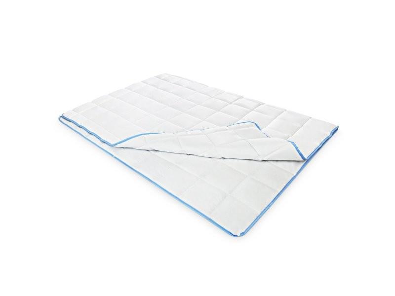 Couette 200x200 2 en 1 clipsable bords bleus hypoallergénique pratique respirante premium sommeil réparateur housse microfibre MISTER SANDMAN