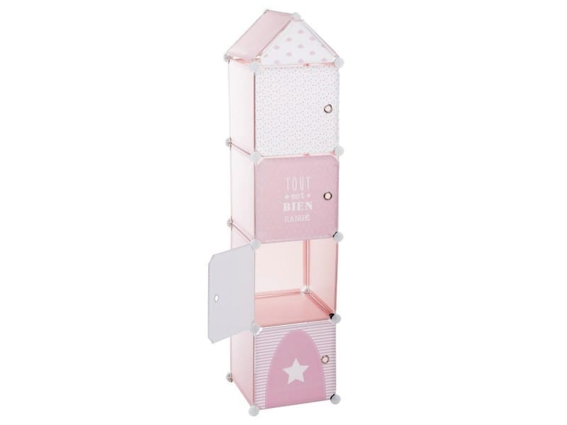 tour de rangement colonne rose vente de atmosphera for kids conforama. Black Bedroom Furniture Sets. Home Design Ideas