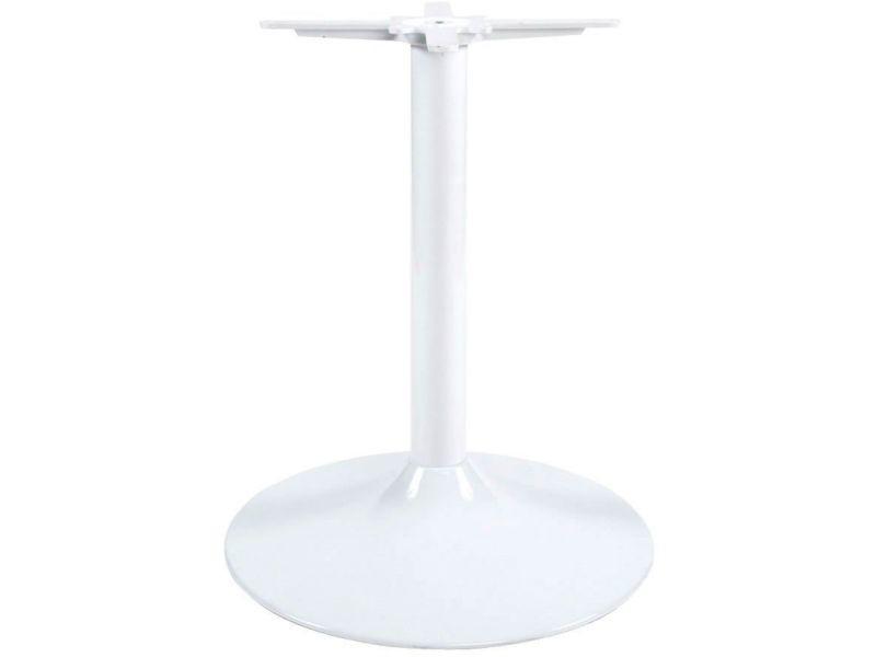 Pied de table 75cm embase ronde TB00020WH