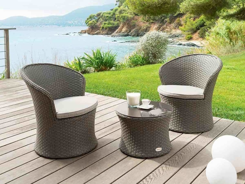 Hesperide meuble jardin amazing salon de jardin en teck for Meuble jardin tresse
