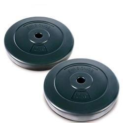 2 x disques d'haltères poids 10kg sport fitness musculation 0701052