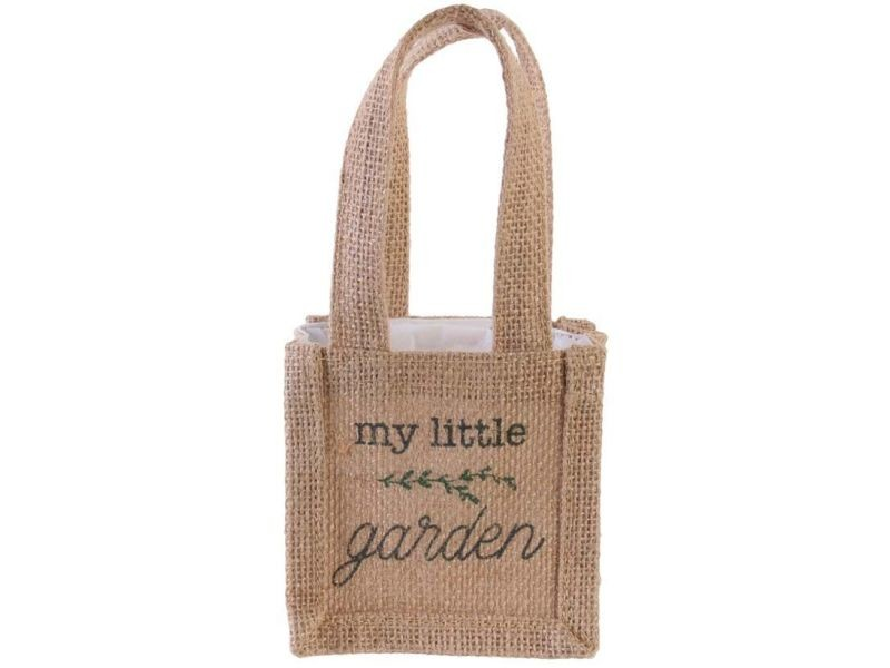 Sac à plantation en jute plastifiée my little market 10 cm
