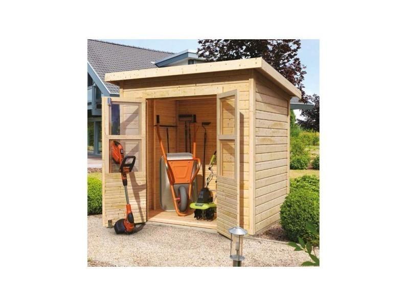 Petit abri de jardin en bois 2 22m merseburg 2 karibu for Petit abri de jardin bois