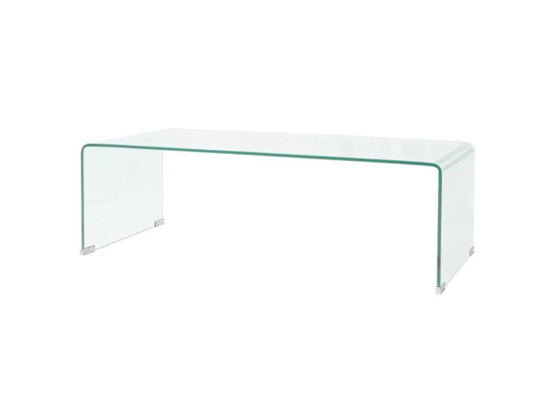Vidaxl Table Basse 100 X 48 X 33 Cm Verre Trempe Transparent 244189 Vente De Vidaxl Conforama