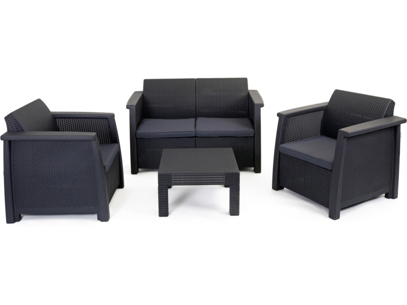 salon de jardin vegas lounge set vegas vente de keter. Black Bedroom Furniture Sets. Home Design Ideas
