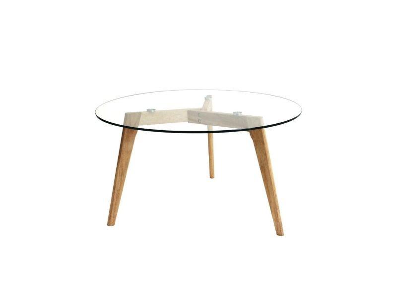 Table ronde en verre vente de les douces nuits de mae - Table basse ronde conforama ...