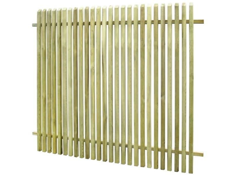 Vidaxl clôture de jardin pinède imprégnée 170 x 150 cm 45146