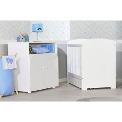 Petite chambre bébé iris blanche