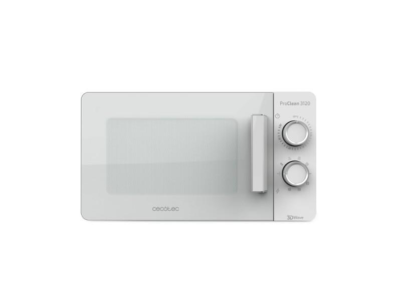 20l, cecotec proclean 3120 - micro-onde grill blanc, 700 w