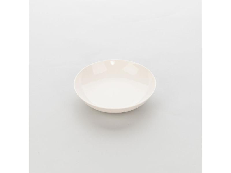 Assiette creuse ronde porcelaine ecru liguria ø 205 mm - lot de 6 - stalgast - 20,5 cm porcelaine