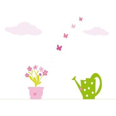 Stickers enfants jardin et fleurs vente de stickers et papier peint confo - Conforama papier peint ...
