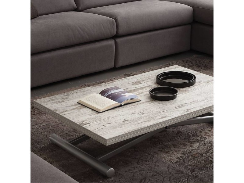 Table basse relevable extensible lift wood vintage - Table basse relevable extensible conforama ...