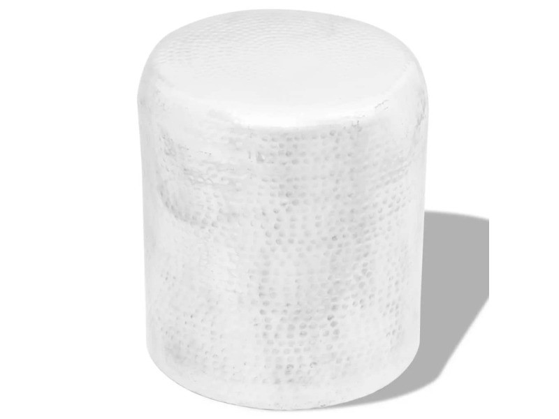 5822ffbe59edd8 Vidaxl tabouret en aluminium martelé argent 242326 - Vente de VIDAXL -  Conforama